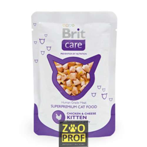картинка BRIT CARE Pouches Chicken & Cheese Kitten от магазина Одежда-