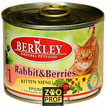 BERKLEY №1 Rabbit with Forest Berries for Kitten